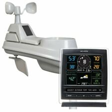 AcuRite Pro 5-in-1 Color Weather Station with Wind and Rain [Dark Theme]