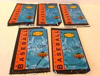 6/23/20 DDenny's Baseball Cards Upper Deck 1995 Lot 5 card packs Holograms NIP