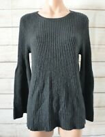 Seed Heritage Jumper Sweater Size Medium Grey Black Longsleeve Cashmere Blend