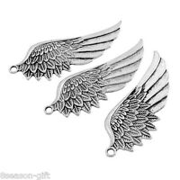 GIFT 10PCs Tibetan Silver Tone Wing Pendant Angel Charm Fashion Jewelry Findings