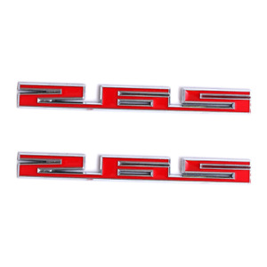 2x Chrome Red 265 Emblem Car Fender Door Rear Trunk Lid Badge for SBC 265 4.3