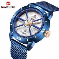 NAVIFORCE Watch Luxury Sports Men Stainless Steel Top Quartz Waterproof Business