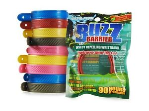 BuzzBarrier Wristbands No Spray Mosquito Bite Repellant Natural Disease Control