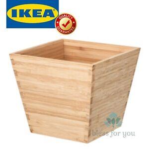 "IKEA VILDAPEL Plant Pot Bamboo 4 ¾ """