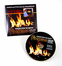 Holiday FIREPLACE DVD of a blazing fire in a fireplace, sets a party mood