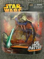 Star Wars Revenge of The Sith Yoda Riding Fly Into Battle Figure Set