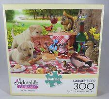 NEW Buffalo Games 300 Piece Puzzle PICNIC RAIDERS Pets PIcnic Animals Outdoors