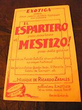Partitura El Espartero Mestizo! Ricardo Zabales Music Sheet