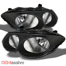 1999-2004 Chrysler 300M Black Bezel Replacement Headlights Headlamp Left + Right