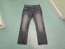 "Voi Jeans Destroy Jeans Waist 34"" Leg 32"" Faded Dark Blue Mens Jeans"