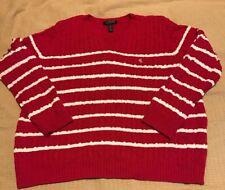 Lauren Ralph Lauren V-Neck Cable Knit Sweater Size 2X
