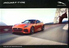 Jaguar F-Type Coupe and Convertible S R SVR UK market brochure 2016