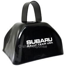 "Subaru Rally Team USA Metal Cowbell Cow Bell 3"" Black Official Genuine"