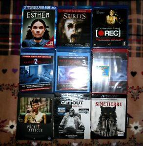 LOT de Blu Ray 4K NEUF et 7 Blu Ray comme Neuf  - Epouvante / Paranormal 🎬🎥🍿