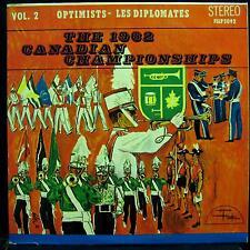 1962 Canadian Bugle Championships - Vol. 2 Optimists - Les Diplomats LP VG+ FSLP