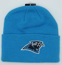 NWT NFL Carolina Panthers Reebok Adult Cuffed Winter Knit Hat Cap Beanie  NEW! de48b9187