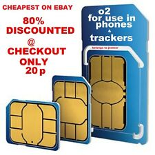 O2 Sim Card - 2G/3G/4G Sim Card - Pay As You Go / PAYG - Standard Micro Nano