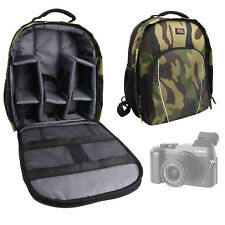 Camouflage Nylon Backpack / Rucksack for Sony FDR-AX33 / AX53 4K w/ Rain Cover