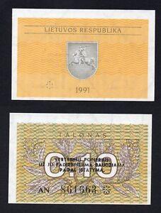 Lituania 0,10 talonas 1991 FDS/UNC  B-02