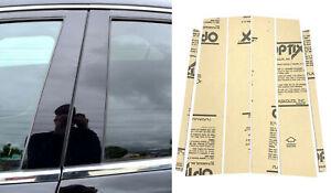 6pc Door Trim Piano Cover Kit Gloss Black Pillar Post Fit 04-15 Titan (Crew Cab)