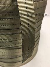 1 INCH Mil-Spec Tubular Nylon Webbing Mil-W-5625 4000# Test PER YARD - TAN 499