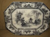 "Antique Platter ""Flowing Blue"" by Chen- Si- By  Ning Po"