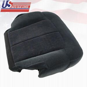 2000 Chevy Silverado 1500 2500 3500 Driver side Bottom Cloth Seat Cover Dk Gray