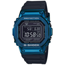 Casio G-Shock Blue IP PVD Steel Resin Strap Solar Bluetooth Watch GMWB5000G-2
