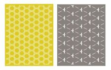 """Quickutz Embossing folder """"Honeycomb"""" A2 card making  2 folders double pack"""