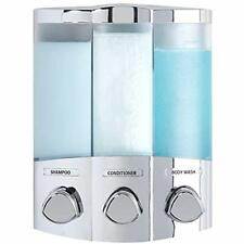 Better Living Products 76344-1 Euro Series TRIO 3-Chamber Soap and Dispenser,