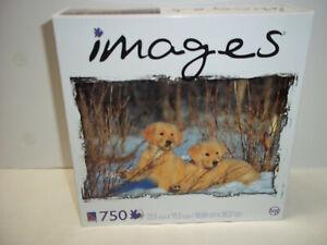 Retriever Puppies In Snow Jigsaw Puzzle 7500 Piece Sure-Lox