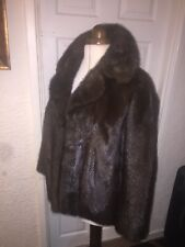MINK REAL FUR COAT JACKET Superb Condition Will fit sizes UK 16-18