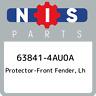 63841-4AU0A Nissan Protector-front fender, lh 638414AU0A, New Genuine OEM Part