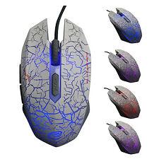 Gaming Maus Mouse 2400 DPI Optisch Kabel LED USB 5 Taste Gamer Maus f. PC Laptop
