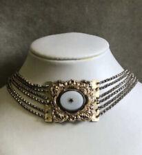 Antik Kropfkette Silber Biedermeier 1850 collier kette tracht