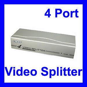 4-Port Video Splitter VGA-Singal -- 1 x PC, 4 x Monitor