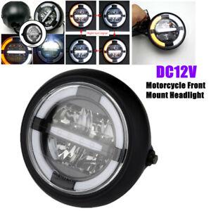 """7"""" Yellow&White Retro Motorcycle LED Headlight LED Sealed Beam Headlight DC12V"""