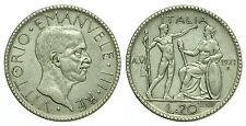 pci0176) Regno Vittorio Emanuele III  lire 20 1927 Littore Patina Monetiere