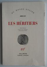 Les Héritiers - Amos Oz Traduit de L'Hébreu par Sylvie Cohen