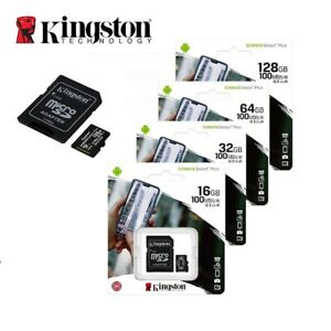 Kingston Micro SD SDXC Card Class 10 16GB 32GB 64GB 128GB Phone Memory & Adapter