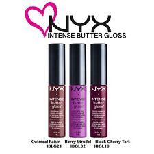 NYX Intense Butter Gloss Set 04 Oatmeal Raisin; Berry Strudel; Black Cherry Tart