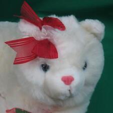 Fluffy White Himalayan Kitty Cat Lifelike Blue Eyes Valentine Plush Stuffed Toy