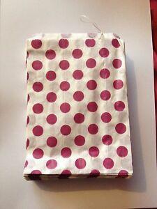 100 paper Purple and white polka dot sweet bags