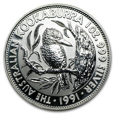 1991 1 oz Silver Australian Kookaburra Coin - Brilliant Uncirculated -SKU #10156