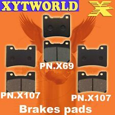FRONT REAR Brake Pads for Yamaha FZR1000 FZR 1000 EX UP (STD Forks) 1989-1990