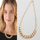 Golden/Silver Plated Chunky Chain Link Necklace Alloy Choker Pendant Bracelet