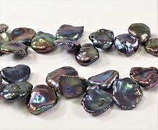 10-12x13-15mm Peacock Keishi Genuine Pearl Beads,Top Drilled Keishi Pearl (#237)
