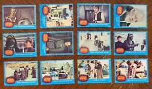 1977 TOPPS STAR WARS BLUE SERIES 1 PARTIAL CARD SET 55/66 PR-VG-EX READ