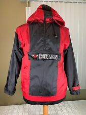 VTG NBA Chicago Bulls NBA Front HalfZip Nylon Windbreaker Jacket Mens Size Small