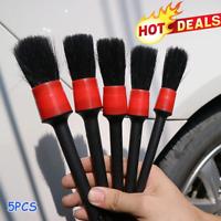 5Pcs Car Detailing Brush Set Cleaning Multifunction